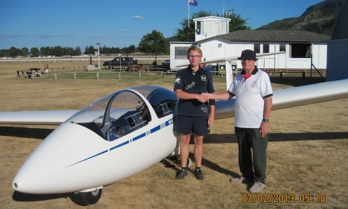 From student  to Pilot.  Martin from Germany visiting NZ