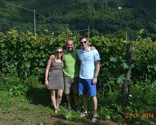 us with Gabriele the winemaker