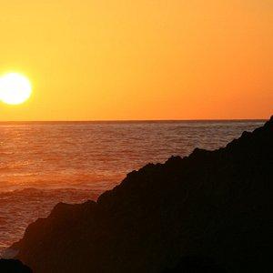il tramonto a Ferraria