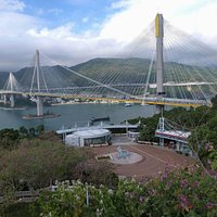 Ting Kau bridge view from Lantau Link Centre & Vewing Platform
