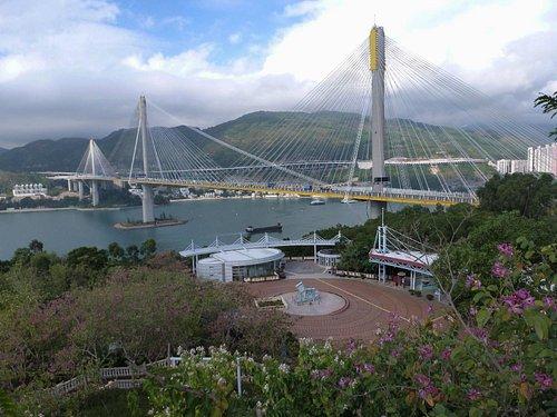 Ting Kau bridge view from Lantau Link Centre & Vewing Platform