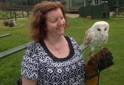 Me with Wisp the barn owl at the centre