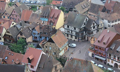 View of Kaysersberg from the tower.