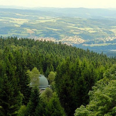 direction Cesky Krumlov (down in the valley)