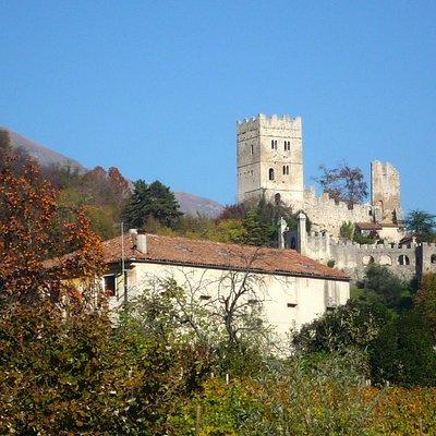 vista del castello dal duomo di Ceneda