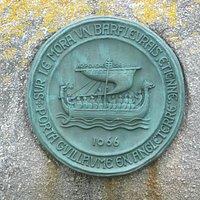 Il medaglione che ricorda la nave di Guglielmo