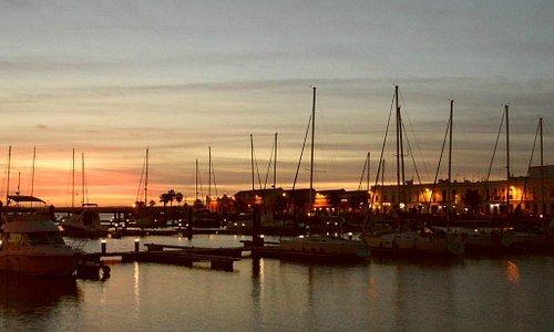 Sunset over Ayamonte marina