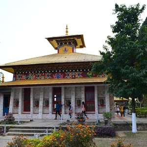 The Buddhist temple.