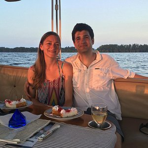 Loving wife, wine, strawberry shortcake - Great Captain and 1st Mate
