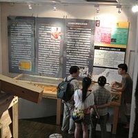 2階は珊瑚そのものの採取などの説明の展示