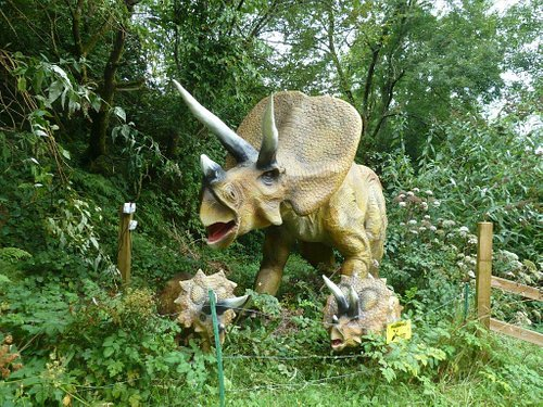 Animatronic family of Triceratops....