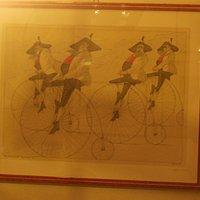 Club ciclistico di vecchi tirolesi in via Portici a Glorenza