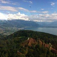 View towards Montreux and Dent-du-Midi