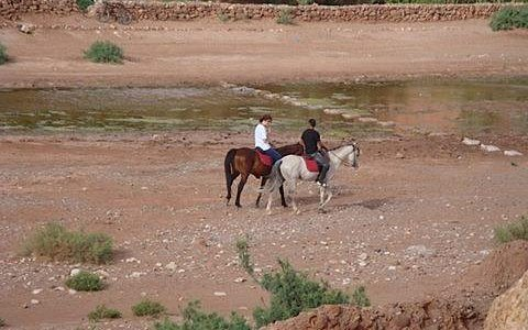 Riding at Ait ben Haddou