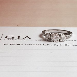 3 stone bespoke ring.