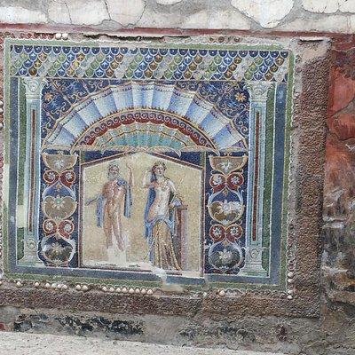 Beautifully preserved mosaic in Herculaneum