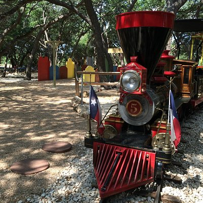 Sophie the Locomotive patiently waits for passengers.