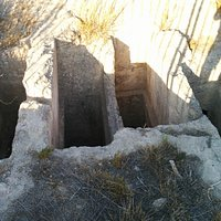 Some of the tomb openings