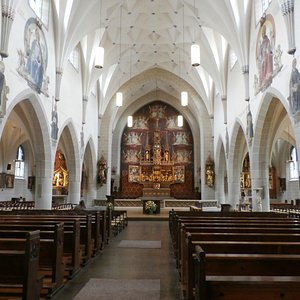 View from the back of the church