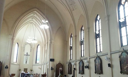The interior of the church. Peace n quiet away from the hustle and bustle of city centre traffic