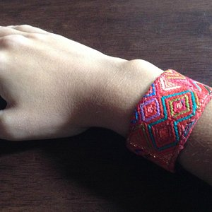 Of all my favorite purchases, this leather/Maya tela bracelet is my everyday staple accessory