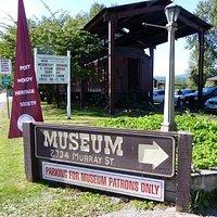 Museum parking entrance