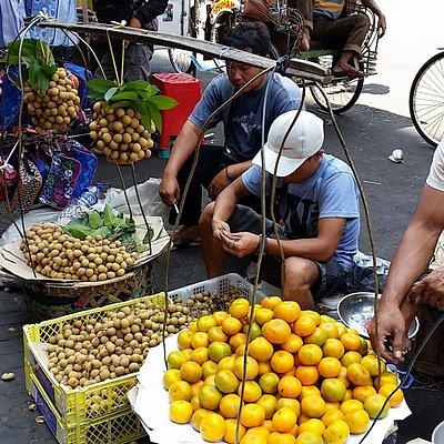 Stall outside the pasar baru