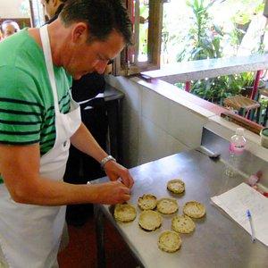 Greg making Sopitos