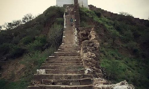 Steps leading to temple on top of the hill