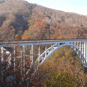 紅葉の六方沢橋
