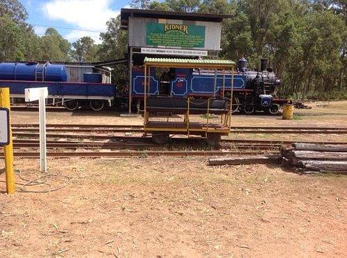 steam train sitting idle at Ravenshoe