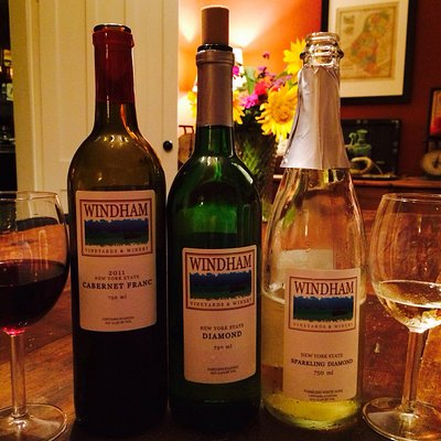 Windham wines at our farm dinner after tasting!!