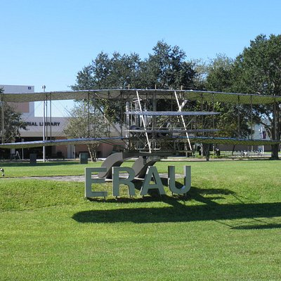 The Wright Brothers Flyer Sculpture at ERAU