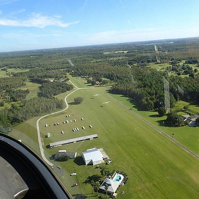 Seminole Lake Gliderport from 300 ft. up