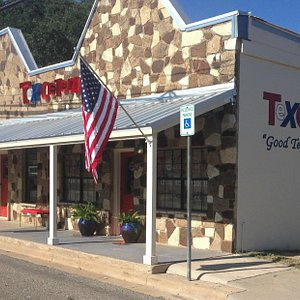 The local library, transformed into a home for Texas art