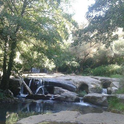 le cascate del fosso castello nei pressi della torre di Chia (torre di Pasolini)