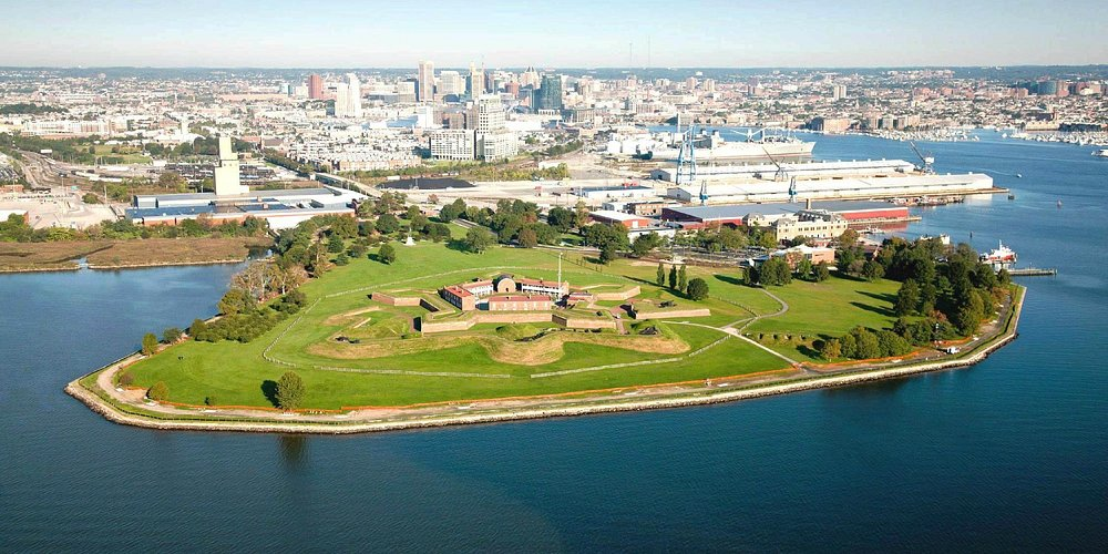 aerial view of Ft McHenry