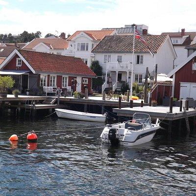 Langesund harbour - the tourist office is just round the corner