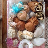 Vassoio di dolci della pasticceria ..