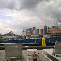 Duta Mall & Mercure Hotel dilihat dari Hotel Golden Tulip Banjarmasin