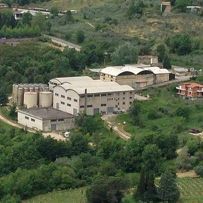 Veduta aerea cantina cesanese Piglio