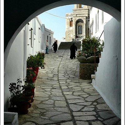 Walk way toward Aghia Pelagia's cell