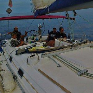 Grande skipper Mauro Vacchino. ..grande vacanza...!!!!