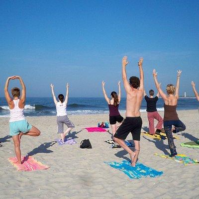 Seasonal Beach Yoga Feels Amazing!