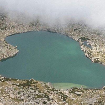 Lac Bastani vu du Mont Renoso