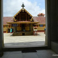 At the entrance of temple