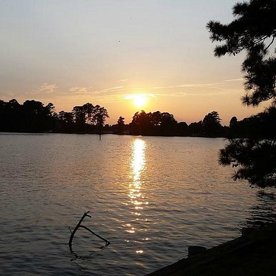 Sunset on the Pamlico River at Bonner's Point in Bath North Carolina