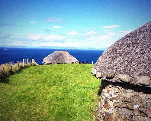 Black houses near Uig on Skye
