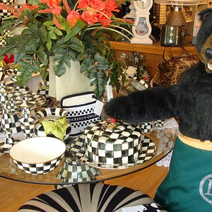 Luiggi, our resident bear is always here to greet you!