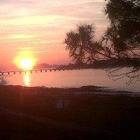 puesta de sol desde Vao